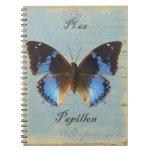 Bleu de Papillon Libro De Apuntes