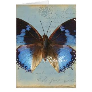 Bleu de Papillon Tarjetas