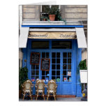 bleu del crêperie - postal de Paris6 Tarjeta De Felicitación