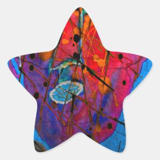 bleu del d'homme del masque pegatinas forma de estrellaes