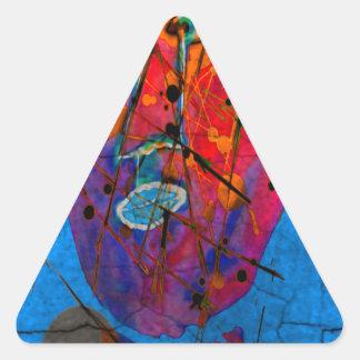 bleu del d'homme del masque pegatinas de triangulo personalizadas