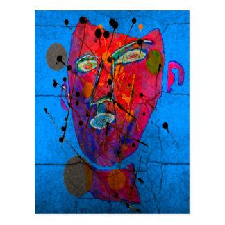 bleu del d'homme del masque tarjetas postales