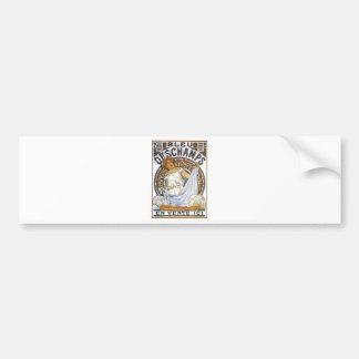 Bleu Deschamps by Alphonse Mucha Bumper Sticker