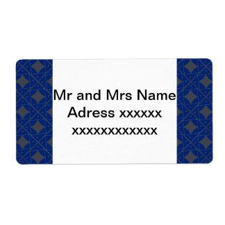 bleu et gris  patterns label