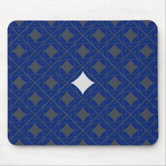 bleu et gris patterns mouse pad