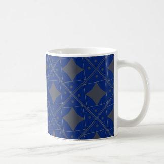 bleu gris patterns coffee mug