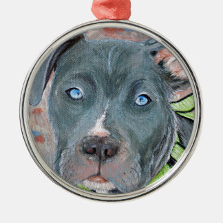 Bleu Metal Ornament