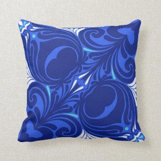 Bleu Nouveau Throw Pillow