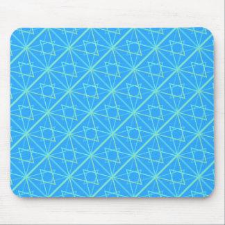 bleu paterns mouse pad