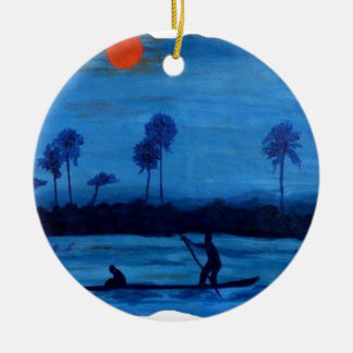 BLEU.png SINNER Ceramic Ornament