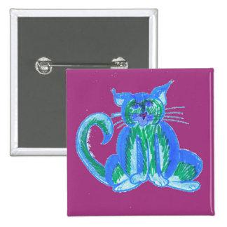 Bleuberry Cat Button