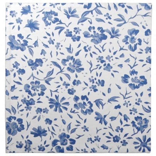 bleue del fleur servilletas imprimidas