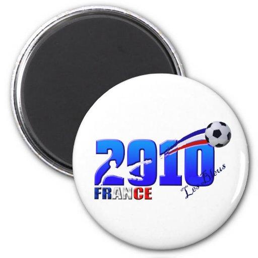 Bleus de Les del fútbol de Francia 2010 regalos de Iman Para Frigorífico