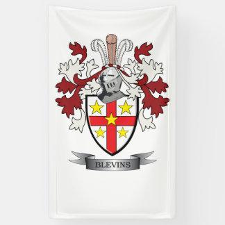 Blevins Family Crest Coat of Arms Banner