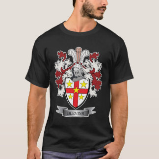 Blevins Family Crest Coat of Arms T-Shirt