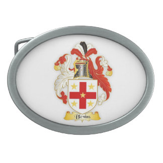 Blevins Family Crest Oval Belt Buckle