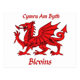 Blevins Welsh Dragon Postcards
