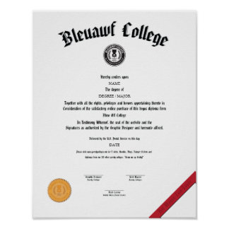 """""""Blew off college"""" Poster"""