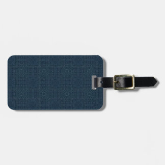 blgr107 NAVY BLUE SQUARES JEANS BACKGROUNDS PATTER Luggage Tags