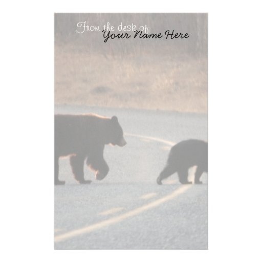 BLHI Black Bears on Highway Customized Stationery