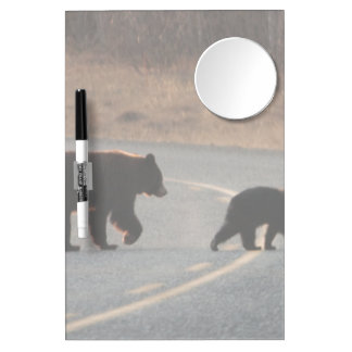 BLHI Black Bears on Highway Dry Erase Board With Mirror