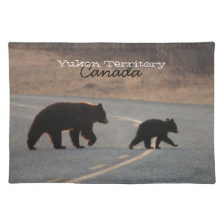 BLHI Black Bears on Highway Cloth Placemat