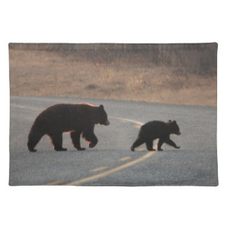 BLHI Black Bears on Highway Cloth Place Mat