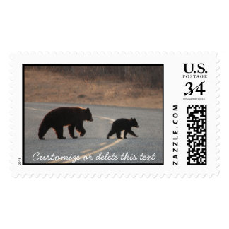 BLHI Black Bears on Highway Postage Stamp