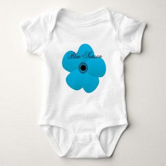Blight Blue Holiday Season Flower Gift Baby Bodysuit