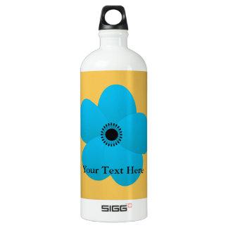 Blight Blue Holiday Season Flower Water Bottle