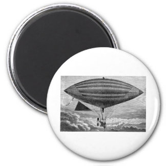 Blimp Airship Dirigible Vintage Flying Machine 2 Inch Round Magnet