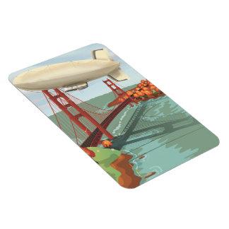 Blimp Airship Rectangular Photo Magnet