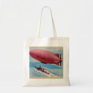 Blimp Dirigible Airship Card Retro Vintage Kitsch Bags