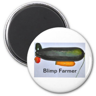 Blimp Farmer 2 Inch Round Magnet