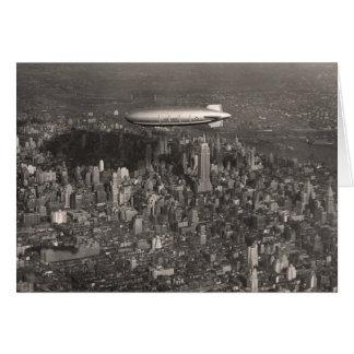 Blimp Over New York Greeting Card - 1746493.jpg