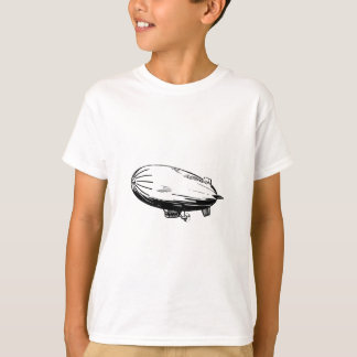 Blimp, Zeppelin, Dirigible, Vintage Drawing T-Shirt