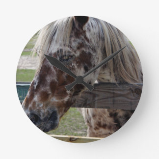 Blind Beauty Round Clock