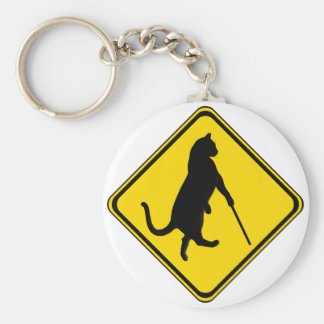 Blind Cats Crossing ! Basic Round Button Keychain