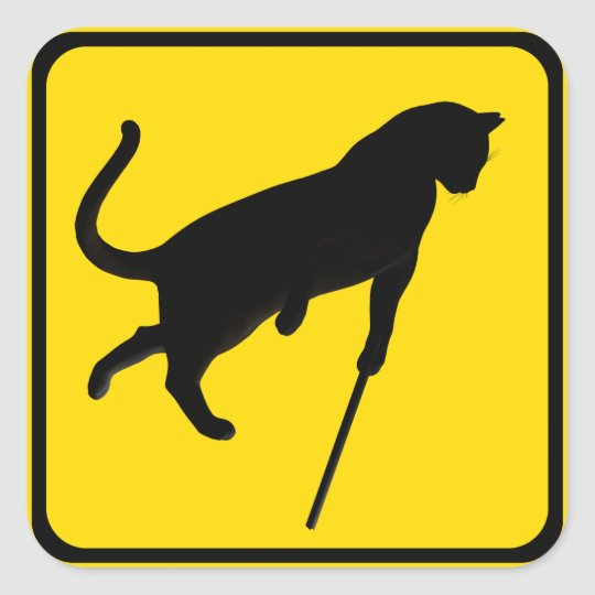Blind Cats Crossing ! Square Sticker