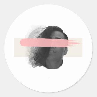 blind classic round sticker