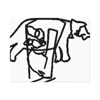 Blind Contour Cats Canvas Print
