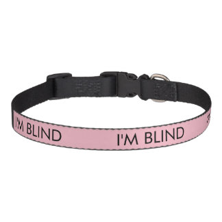 Blind dog collar