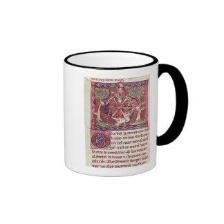 Blind goddess Fortune with King Arthur Ringer Coffee Mug