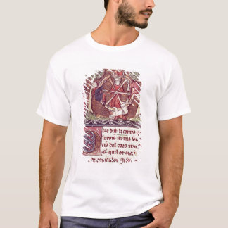 Blind goddess Fortune with King Arthur T-Shirt