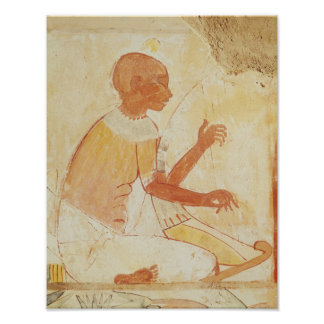 Blind Harpist Singing, from the Tomb of Nakht Poster