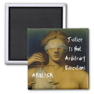 Blind Justice 2 Inch Square Magnet