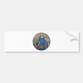 Blind Justice Round Medallion Mosaic Bumper Sticker