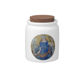 Blind Justice Round Medallion Mosaic Candy Dish