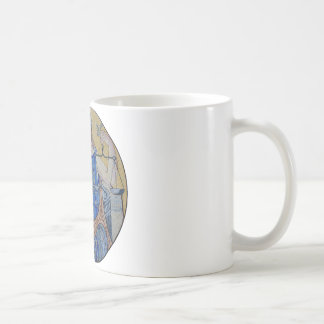 Blind Justice Round Medallion Mosaic Coffee Mug