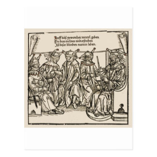 Blind Justice, the court of Fools Postcard